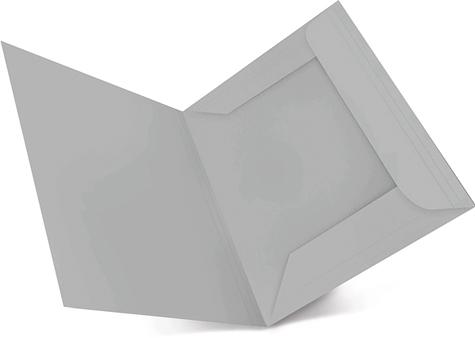 gbc 25 cartelline Rexel ECO Spring Light a 3 lembi (alette), in cartoncino ecologico riciclato post consumer al 100% GRIGIO CHIARO. Formato BC (25,5x33cm), 150gr. Una linea di cartelline a 3 lembi in cartoncino ecologico riciclato al 100%, Capacità: 3cm. Angoli arrotondati e indice frontale in rilievo. Formato A4 e protocollo.